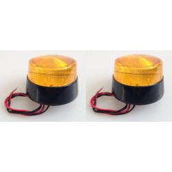 2 Flash allarme elettronico xenon 12vcc ambra ø70x52mm haa40a flash dispositivo allarme