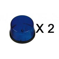 2 Xenon blitzlicht 12vdc blau ø70x44mm blitzlicht fur elektronische alarmanlage