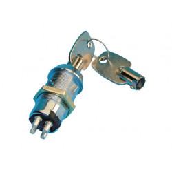 Keyswitch electric impulse keyswitch, 4 pin, 2 round keys with the same code keyswitch electric impulse keyswitch, 4 pin, 2 roun