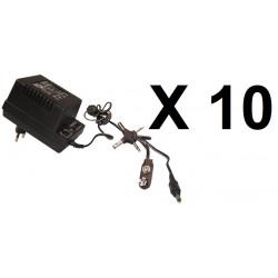 10 Adaptador electrico con clavija 220vca 3 12vcc 700ma 1.5v 3v 4.5v 6v 7.5v 9v 12v 13.6v 15.5v 16.5v 17.5v mw78u adaptador