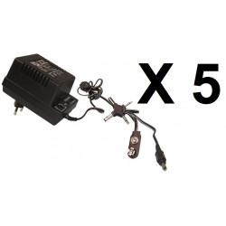 5 Adaptador electrico con clavija 220vca 3 12vcc 700ma 1.5v 3v 4.5v 6v 7.5v 9v 12v 13.6v 15.5v 16.5v 17.5v mw78u adaptador
