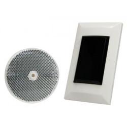 Single photoelectric sensor with reflector flush mount 7m