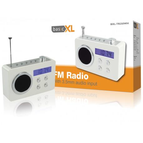White portable radio basicXL