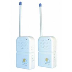 Interphone electronique sans fil alarme surveillance bebe 20 30m paire interphones bebe sans fil