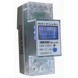 Kwh meter single phase 80a din rail mounting 2 modules emdin02