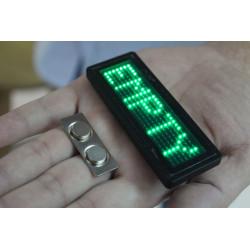 verde badge led programables 5 caracteres 29 x 7 matriz de puntos de 5 dígitos de la tarjeta de b729tsb