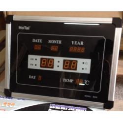 calendario reloj rojo gran tiempo de visualización años temperatura de la fecha 225x185mm 220v de pared LED