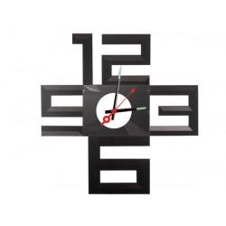Horloge murale autocollante silencieuse polypropylène a piles wcs1 a monter soi-même