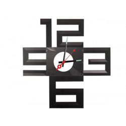 Silenzioso orologio da parete adesivo in polipropilene con batteria