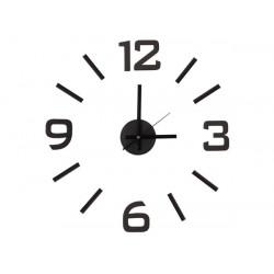 Horloge murale moderne autocollante silencieuse a monter soi-même polypropylene wcs3