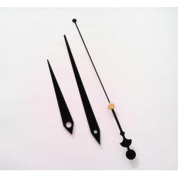 Aiguilles de rechange grand modele 8.5cm 12.4cm 16.5cm pour mecanisme horloge quartz