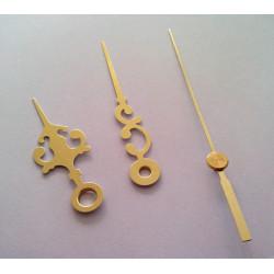 Aiguilles de rechange dorées 5cm 6.8cm pour mecanisme horloge quartz