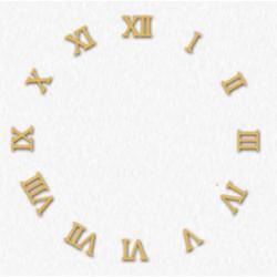 Lote 12 cifras romanas de cuarzo reloj de pared