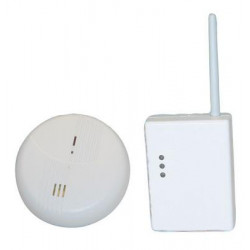 Wireless smoke detector set for alarm control panel wireless escaping gas detector gas detection