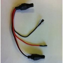 Cable de raccordement batterie 6v 7ah pour arceau de parking solaire parkbs