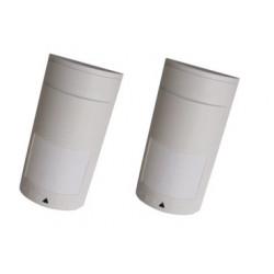 2 X Doppeltechnologie 14m detektor 12vdc zubehor fur alarmsystem alarmanlage dual technologie detektor dual tech detektor