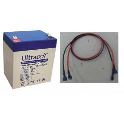 Rechargeable battery Battery 12v 4.5Ah 4ah 4.2ah + cord female female terminal 6.4mm