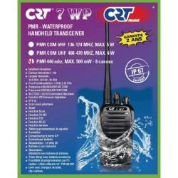 Portable radio walkie talkie waterproof ip66 crt 7wp pmr 446 MHz Programmable 400-470 MHz licensed
