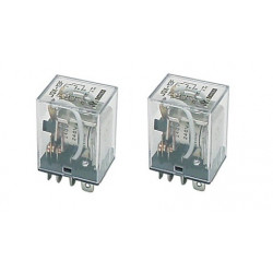 2 X Relay 220vac power relay, 2 no nc contacts 10a under 220vac relays 220vac power relays, 2 no nc contacts 10a under 220vac re