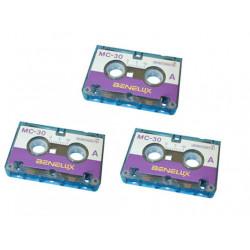 Audio tape audio microcassette, 30 minutes (3 units) miniature tape mini cassettes audio tape audio microcassette, 30 minutes (3