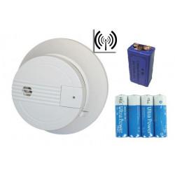 Rauchmelder drahtlos buzzer 9vdc 433mhz sicherheitstechnik brandschutzartikel zubehor fur alarmananlage drahtlos rauchdetektor r