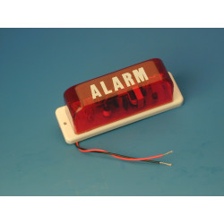 Flash allarme elettronico xenon 12vcc rosso mini 250ma 80 pulsazioni minuto kd 122a flash dispositivo allarme