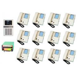 Intercom complete video doorphone for 12 apartmens (3xw12xs,star8 not included) apartment video doorphone system video doorphone