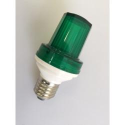 Mini strobe lamp Green, 1w 10 led, e27 socket