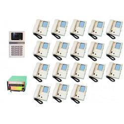 Intercom complete video doorphone for 18 apartments (4xw12xs,star8 not included) apartment video doorphone system video doorphon