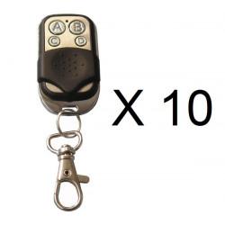 Lot de 10 telecommandes radio universelle jolly open 4 433mhz copieuse transmetteur