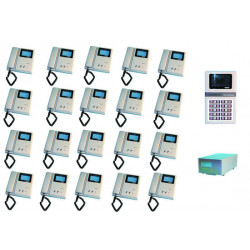 Intercom complete video doorphone for 20 apartments (4xw12xs, star8 not included) apartment video doorphone system video doorpho