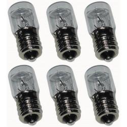 6 light bulbs lighting pilot lamp e14 7w 230v 220v 240v has 7.5we14