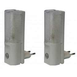 2 X Lampadina da notte di sicurezza automatica per bambino 220vca con cellula fotoelettrica lampadina emergenza automatica