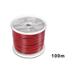 100m cable low2150rb / c to speaker cca 2 x 1.50mm2 black red