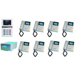 Intercom complete video doorphone for 8 apartments (2xw12xs, star8 not included) apartment video doorphone system video doorphon