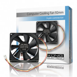 Ventilateur 12v 92mm cmp-fan24 92x92x25mm connecteur 3 pins 12 volt ordinateur pc CY 204N