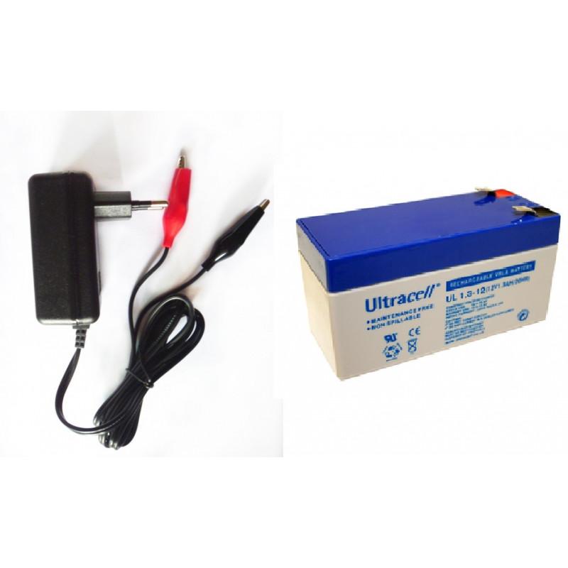 batterie et chargeur voiture electrique jouet 6v 13ah