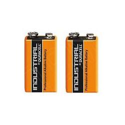 Lot de 2 piles 9v alcaline duracell procell mn 1604 6lr61 pour ze5 6lf22 am6 1604a 522