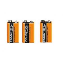 Lot de 3 piles 9v alcaline duracell procell mn 1604 6lr61 pour ze5 6lf22 am6 1604a 522