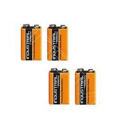 Lot de 4 piles 9v alcaline duracell procell mn 1604 6lr61 pour ze5 6lf22 am6 1604a 522