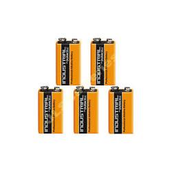 Lot de 5 piles 9v alcaline duracell procell mn 1604 6lr61 pour ze5 6lf22 am6 1604a 522