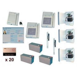 Kit controllo 2 accessi mediante lettore di carta sistema sorveglianza accesso protezione entrata