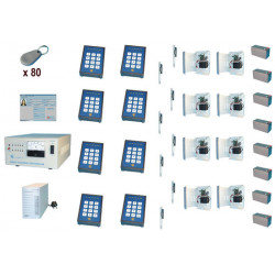 Acces control pack for 8 door by badge reader access control pack access control kit access control system alarm acces control p