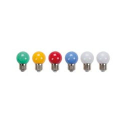 Set of 6 blue lights red yellow green light string replacement bench