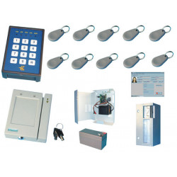 Acces control pack with 1 proximity badge reader for pc access control pack access control kit access control system alarm acces