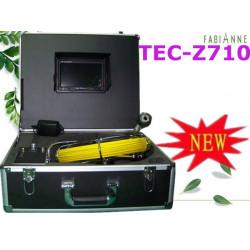Cámara de vídeo en color de inspección de tuberías 40m usb llevó desbloqueo endoscopio tubo tec-z710