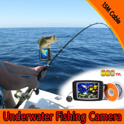Underwater fishing camera, hd 600tvl video camera, 7inch monitor with 15m cable