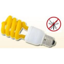 Gelbe birne e27 anti mücken buzz off 25w 100w equivalent compact fluorescent spiral 220v 240v