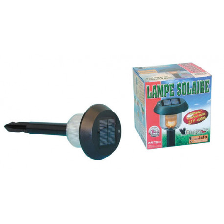 Lampe solaire eclairage 8h 3v 600ma gl775bq batterie rechargeable ...
