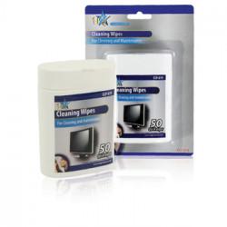 50 toallitas de limpieza de ordenador pantalla del ordenador limpieza CLP-019 Nedis
